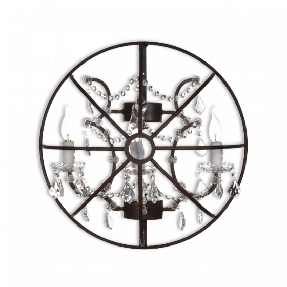 Gyro Crystal Sconce