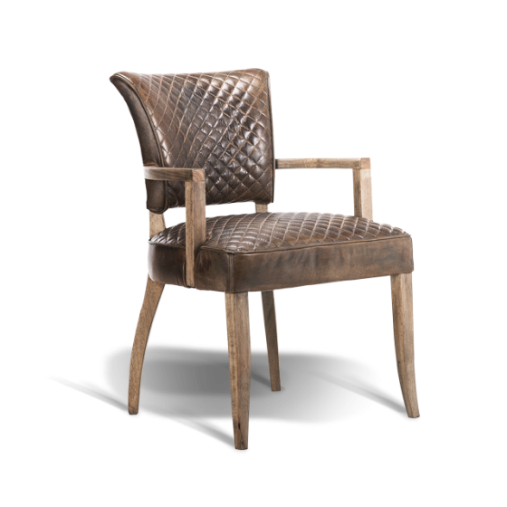 Mimi Quilt Dining Chair with Arms