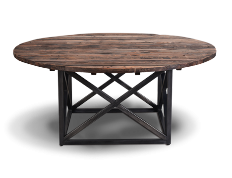Reclaimed Wood Round Dining Table Axel Mk3 Timothy Oulton Timothy Oulton