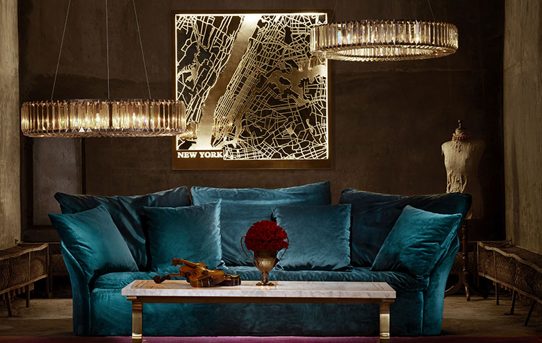 Art Deco Glamour: The Perfect Vintage Sofas, Art Deco Armchairs & Crystal Chandeliers for Your Home