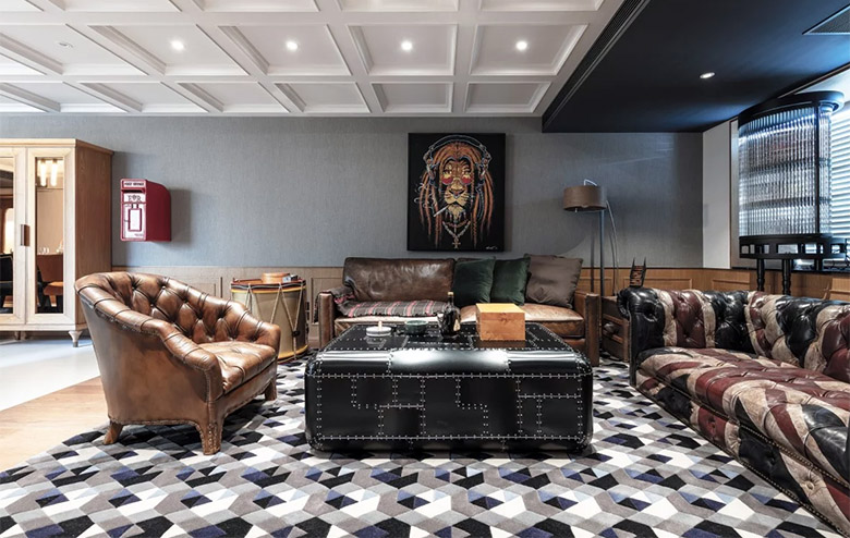 A Hong Kong Apartment is Transformed into a Gentlemen's Club