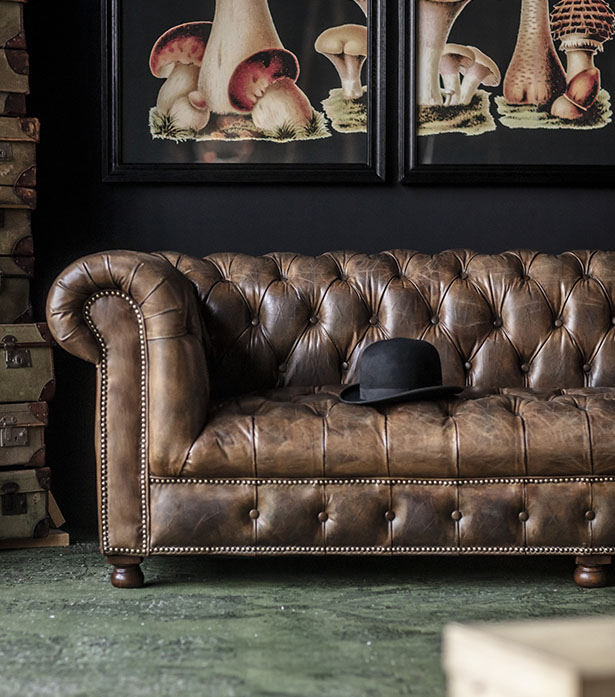 Leather & Linen Sofa - Westminster Button   Timothy Oulton ...